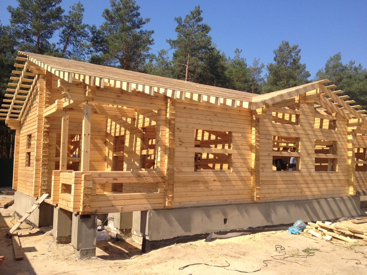 Брусовой дом как построить