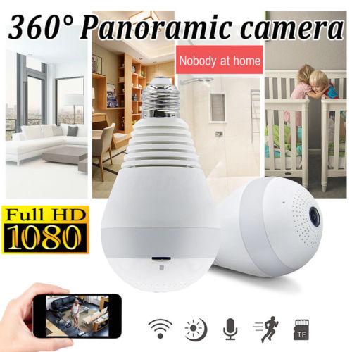 Лампа IP Камера Wi-Fi 1080P на 360